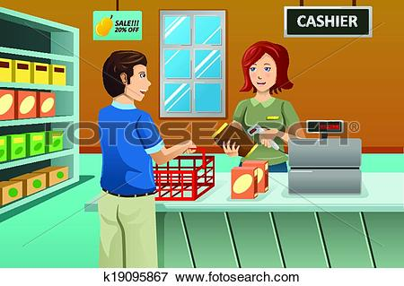 Grocery store clerk clipart clip transparent stock Store clerk Clip Art Illustrations. 292 store clerk clipart EPS ... clip transparent stock