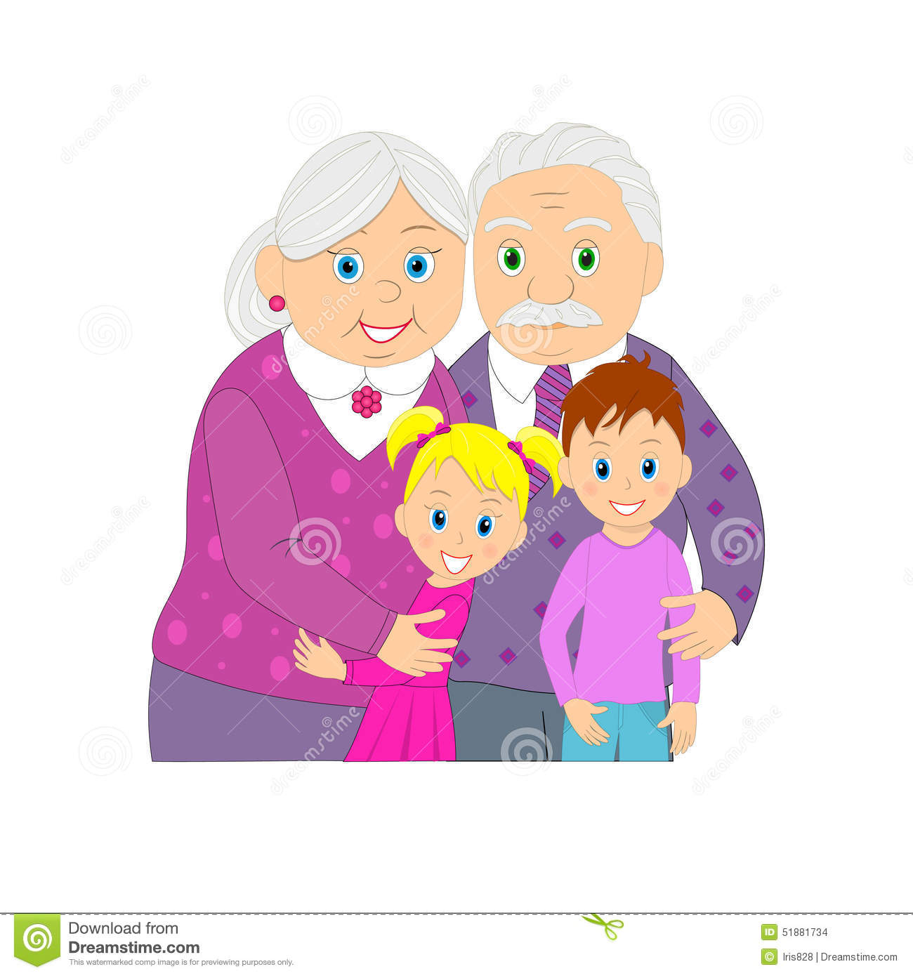 Groeltern und enkel clipart svg freeuse Vector Grandmother With Grandfather Stock Photo - Image: 11986440 svg freeuse