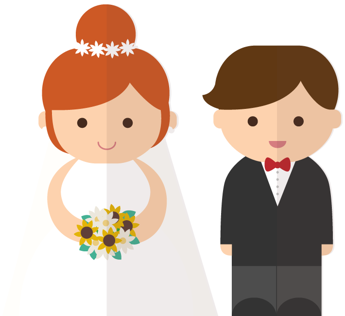 Groom cartoon clipart image black and white stock Bride and groom cartoon clipart images gallery for free download ... image black and white stock