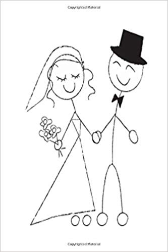 Groom stick figure clipart black and white stock Wedding Journal Bride Groom Stick Figure Sketch Notebook Diary ... stock