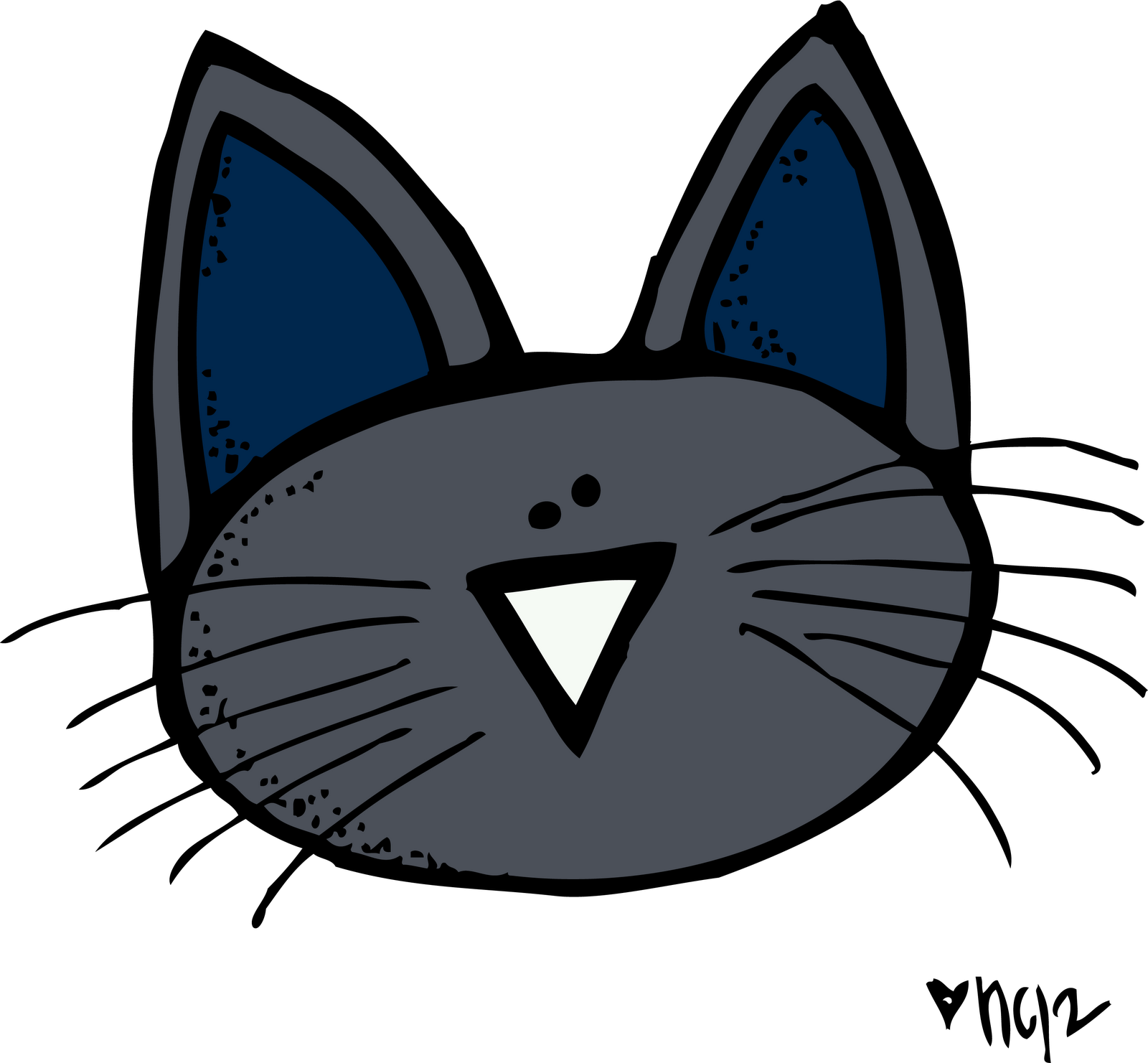 Groovy cat clipart png stock 28+ Collection of Pete The Cat Head Clipart Black And White | High ... png stock