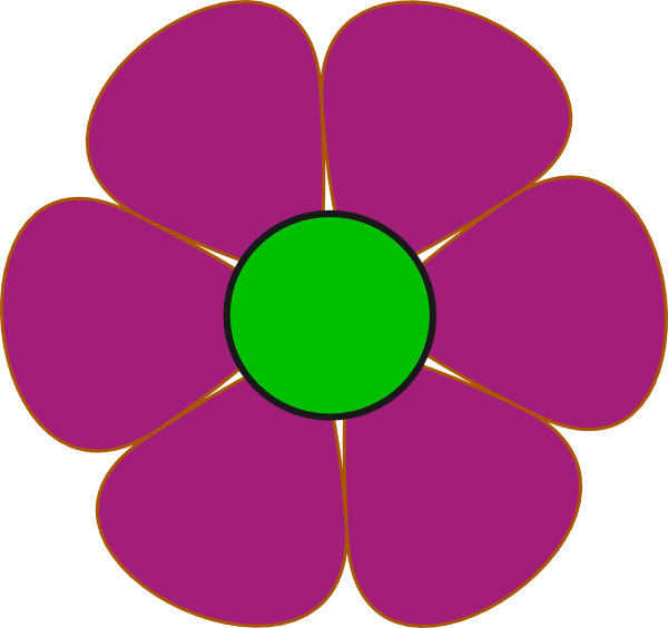 Groovy flower clipart