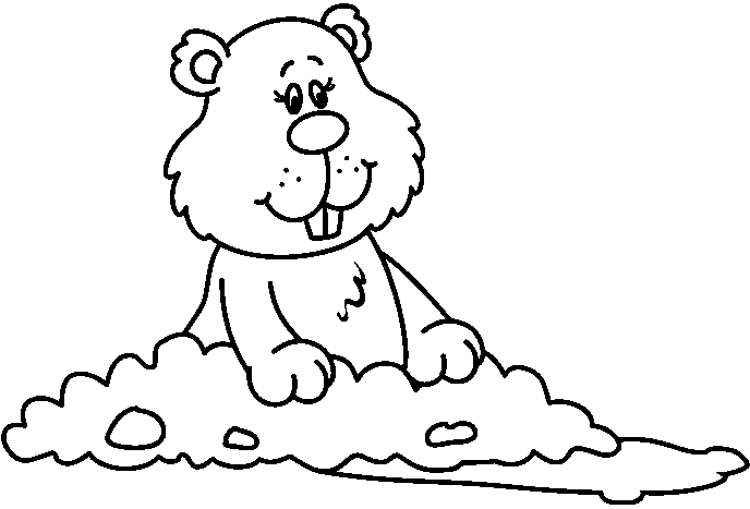 Groundhog black and white clipart image black and white library Free Groundhog Black And White Clipart, Download Free Clip Art, Free ... image black and white library