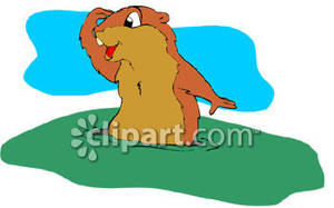 Groundhog clipart with and without shadow png royalty free library Cartoon Groundhog Looking For Its Shadow - Royalty Free Clipart Picture png royalty free library