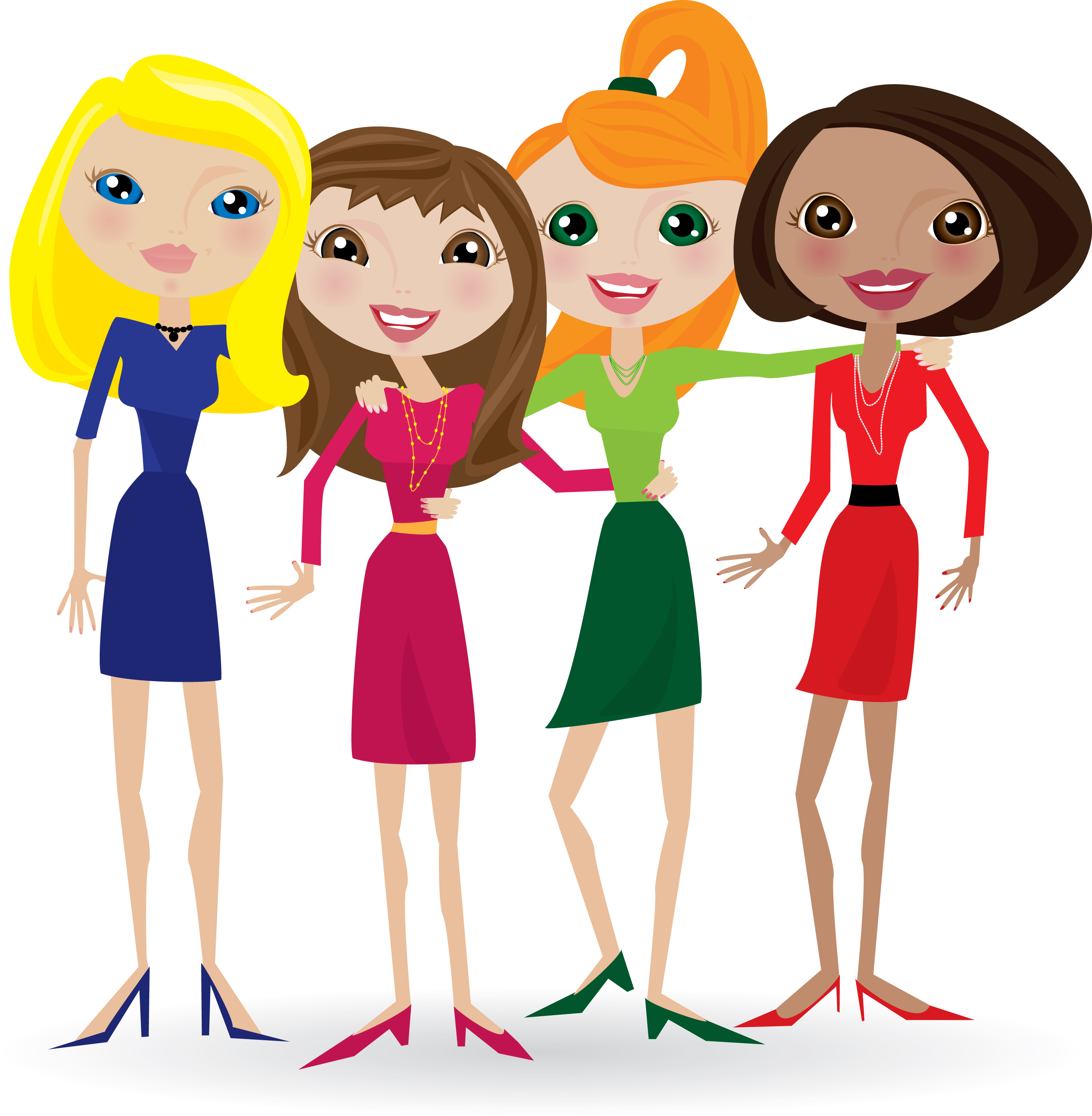 Birthday girl with friends clipart picture black and white stock Free Animated Friends Cliparts, Download Free Clip Art, Free Clip ... picture black and white stock