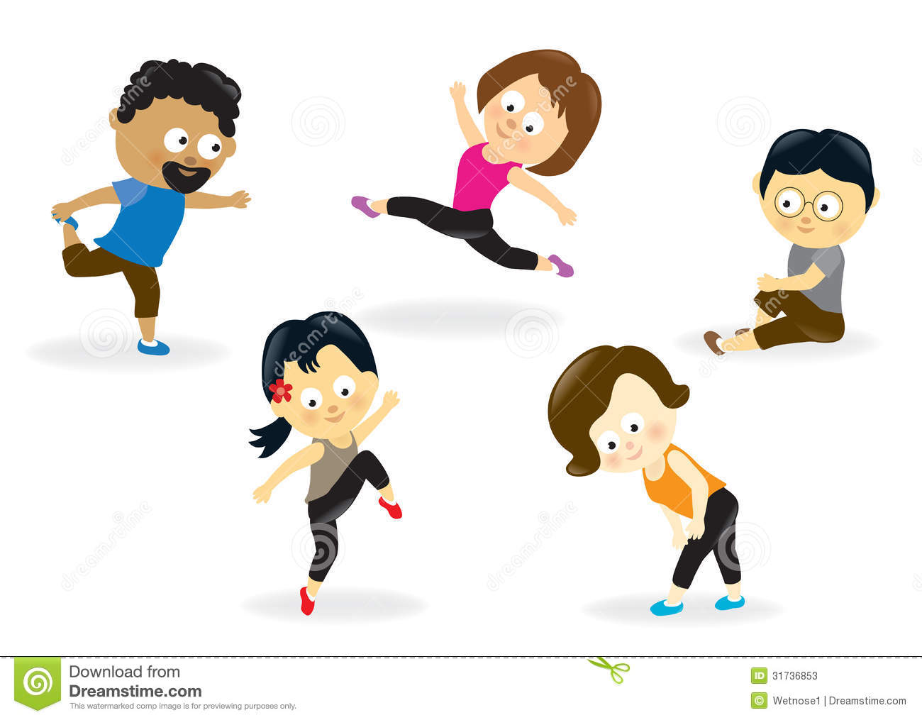 Group fit class clipart image library library Group Fitness Training Clip Art – Clipart Free Download image library library