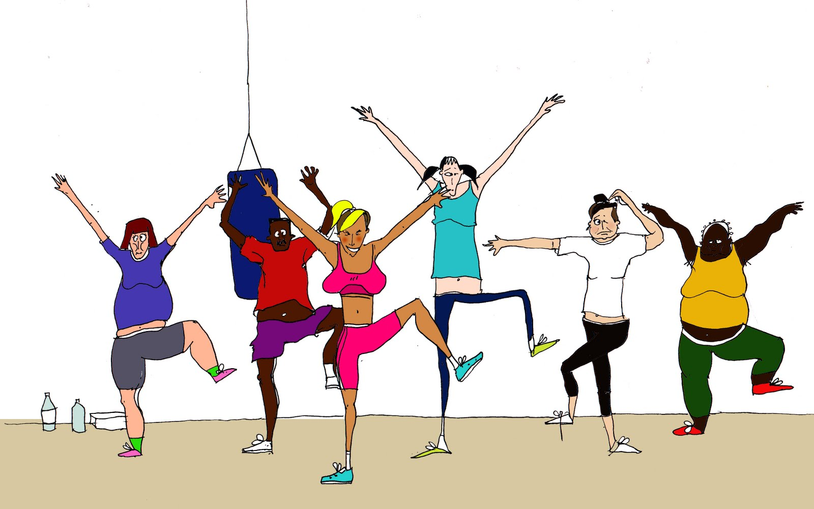 Group fit class clipart graphic freeuse library Group fitness class clipart - ClipartFest graphic freeuse library