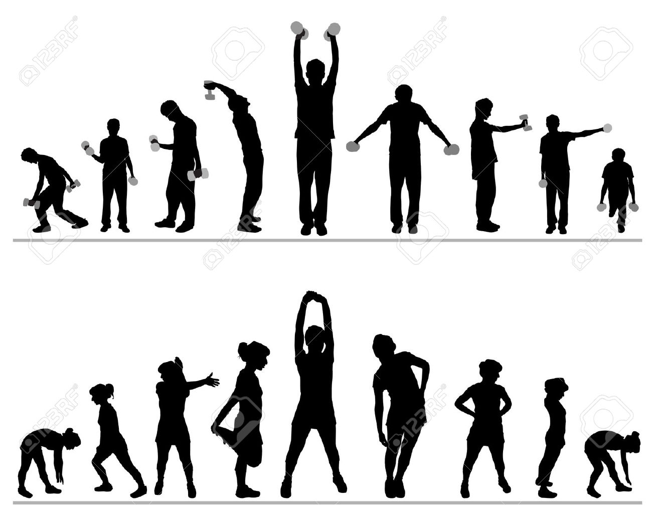 Group fit class clipart png free download Fitness class clipart - ClipartFest png free download