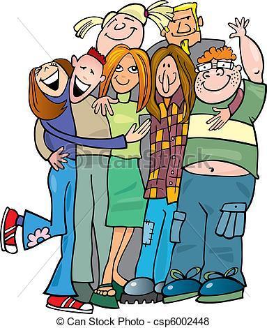 Group hug clipart vector freeuse Group hug clipart 6 » Clipart Portal vector freeuse