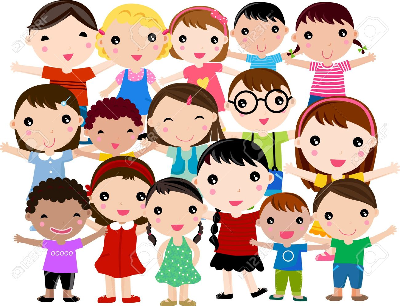 Group of kids clipart clip freeuse library Group of kids clipart 8 » Clipart Station clip freeuse library