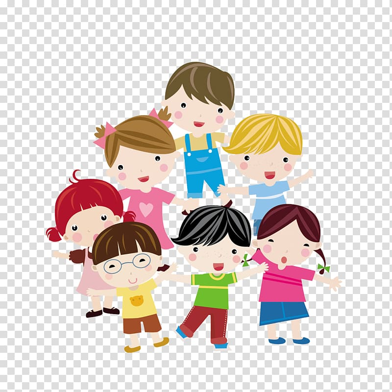 Group of kids clipart clipart Group of children illustration, Child Euclidean Illustration, Cute ... clipart