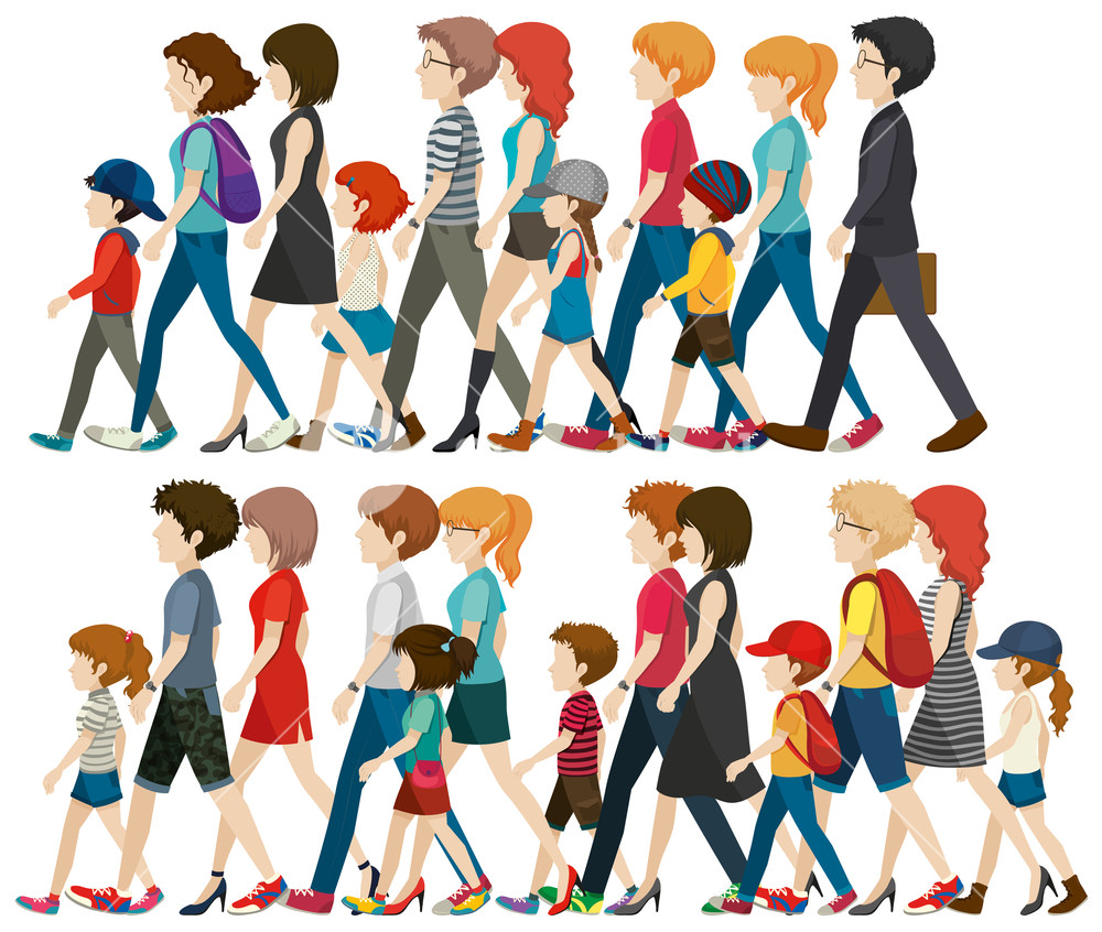 Group of people walking clipart clip freeuse stock Faceless people walking in group Royalty-Free Stock Image ... clip freeuse stock