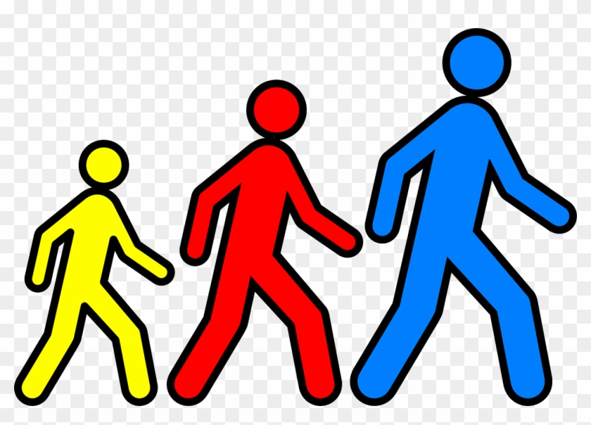 Group of people walking clipart free stock Stickmen Walking Follow Png Image - Group Walking Clip Art ... free stock