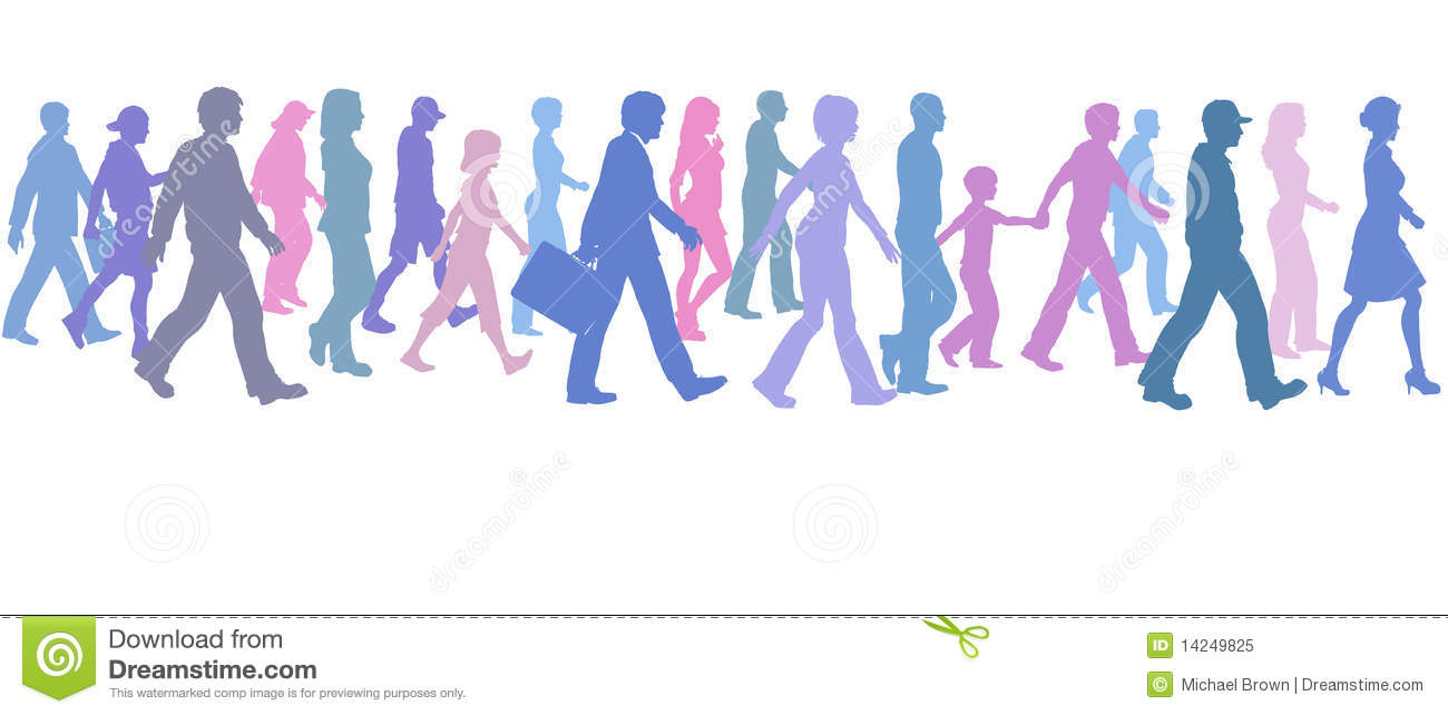 Group of people walking clipart freeuse download Group of people walking clipart 1 » Clipart Station freeuse download