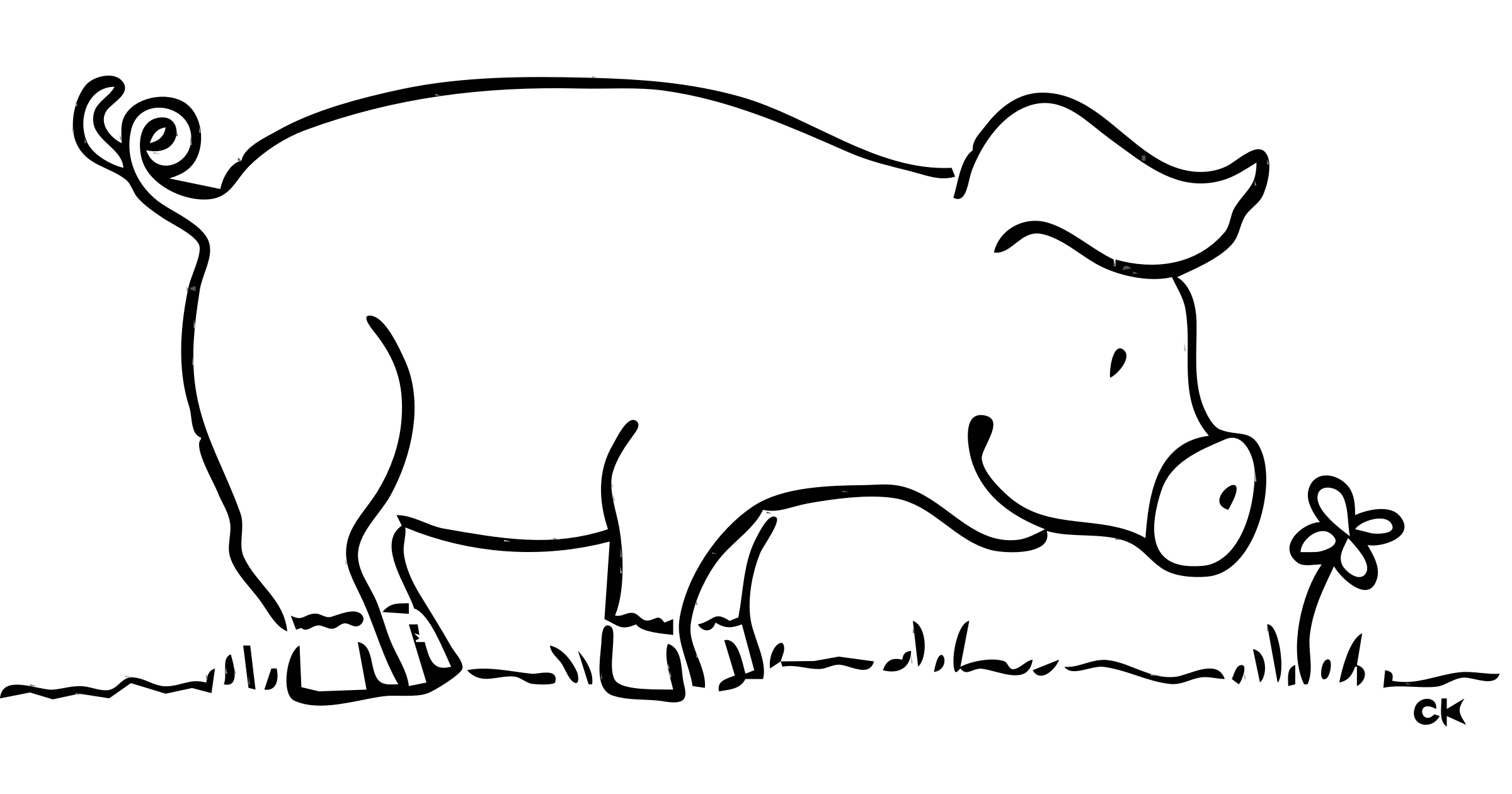 Group of pigs clipart black and white svg royalty free library Black And White Clipart Of Pig svg royalty free library