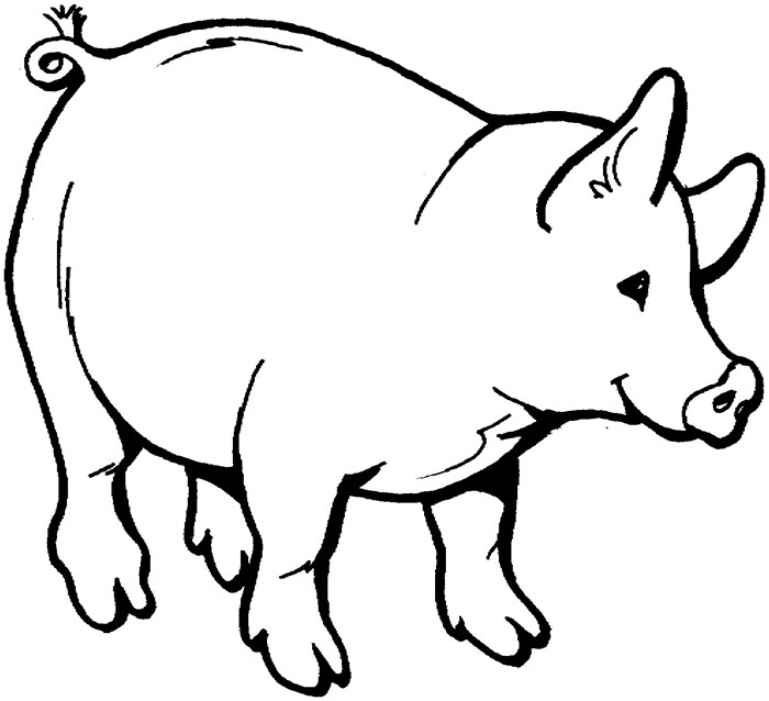 Group of pigs clipart black and white image stock Outline Of A Pig Group with 63+ items image stock