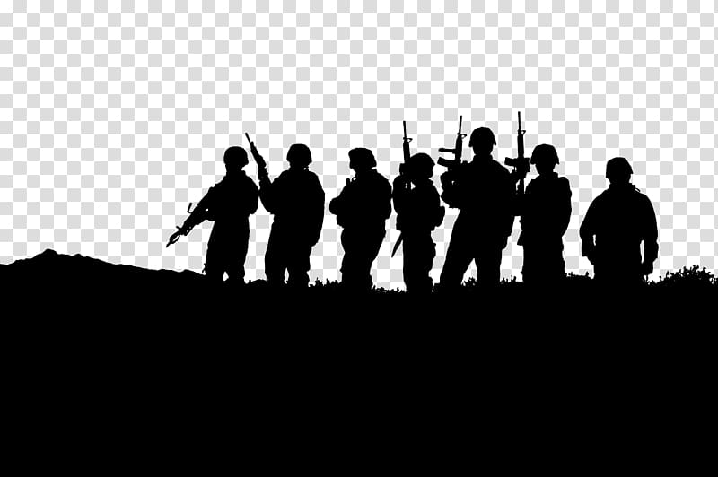 Group of soldiers clipart clip art freeuse download Silhouette of group of soldiers, United States Military Soldier ... clip art freeuse download