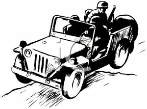 Group of soldiers clipart vector black and white A Group of Soldiers Riding In a Jeep - Royalty Free Clipart Picture vector black and white
