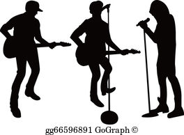 Group singing clipart jpg black and white library Singing Group Clip Art - Royalty Free - GoGraph jpg black and white library