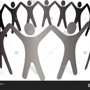 Groups of people arms raised clipart svg royalty free library Stock Vector Business Woman Silhouette Excited Hold Hands Up Raised ... svg royalty free library