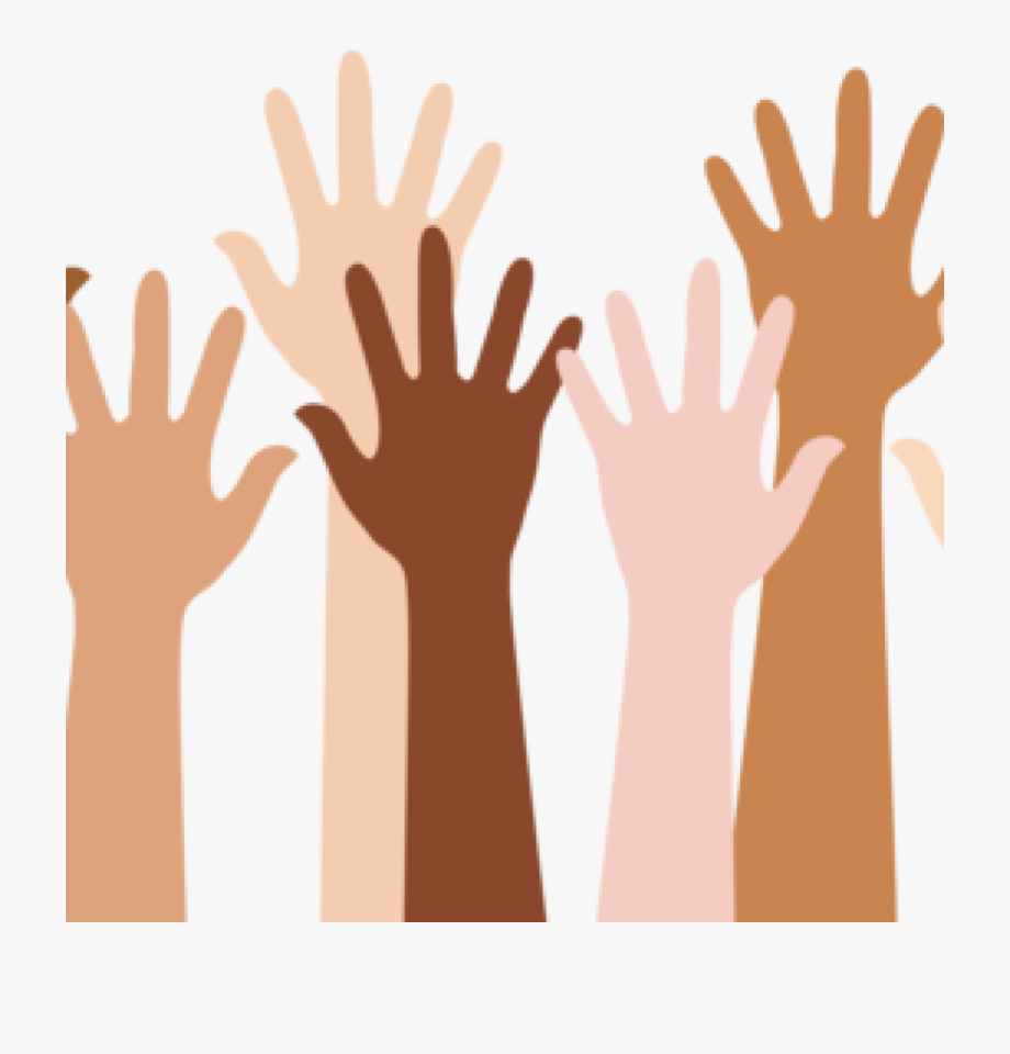 Groups of people arms raised clipart royalty free Youth Clipart Diverse Group Person - Transparent Raised Hand Png ... royalty free