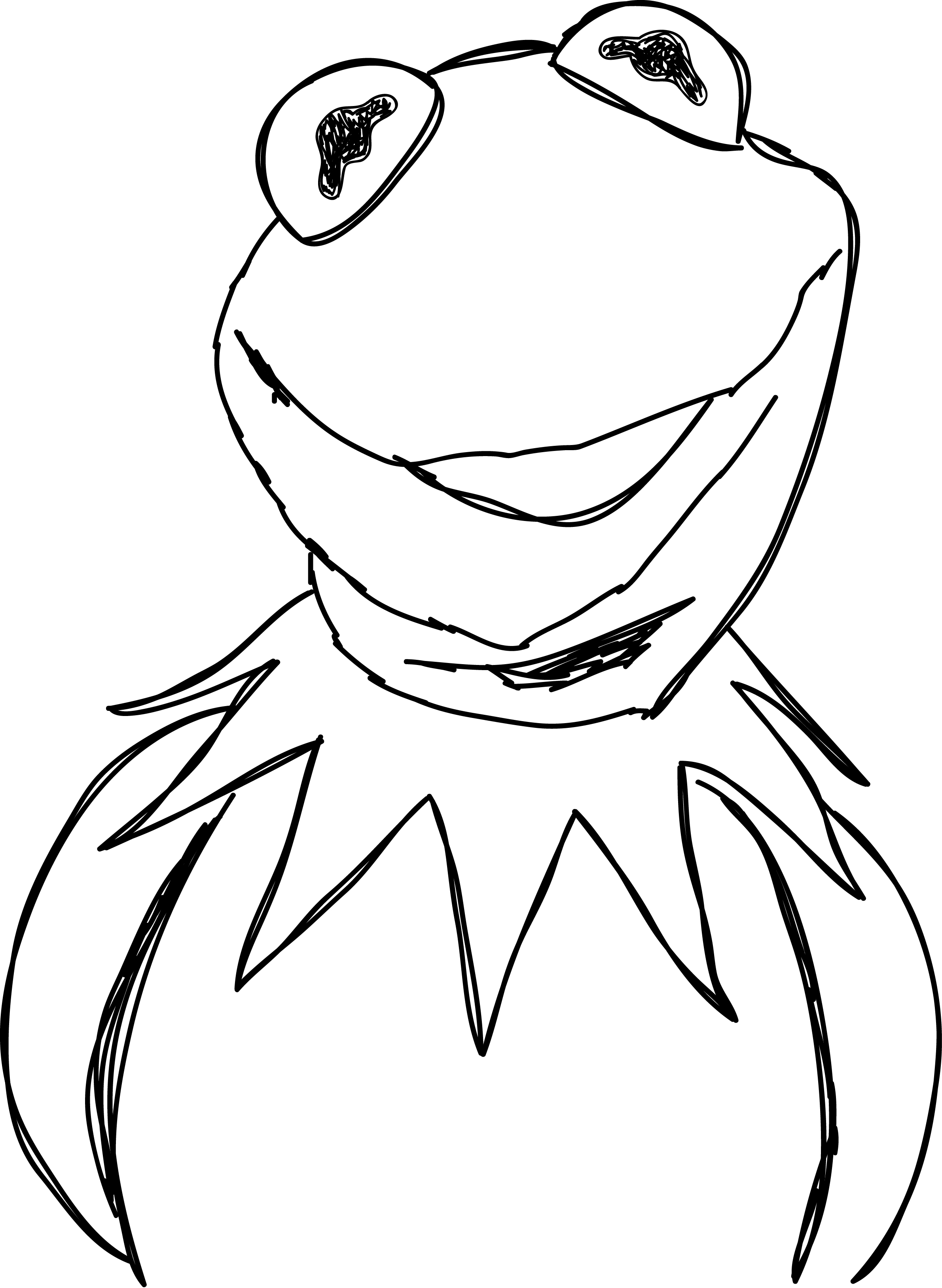 Grover from the muppets clipart black and white vector stock Kermit the Frog Miss Piggy Grover Tree frog The Muppets - frog png ... vector stock