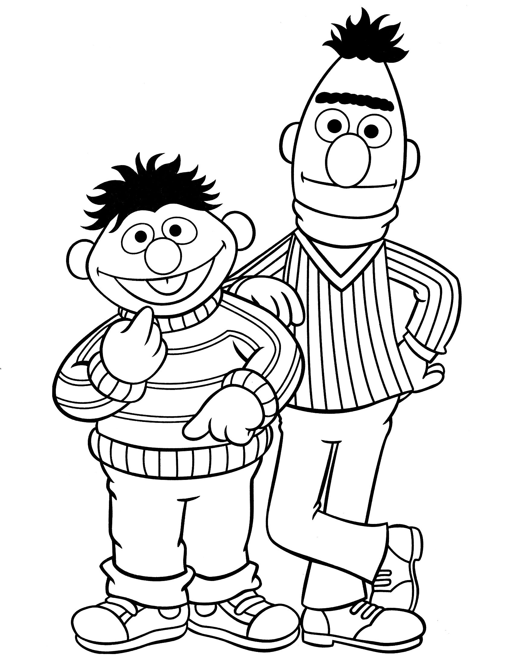 Grover from the muppets clipart black and white vector transparent Here we provide some black and white sesame street coloring pages ... vector transparent