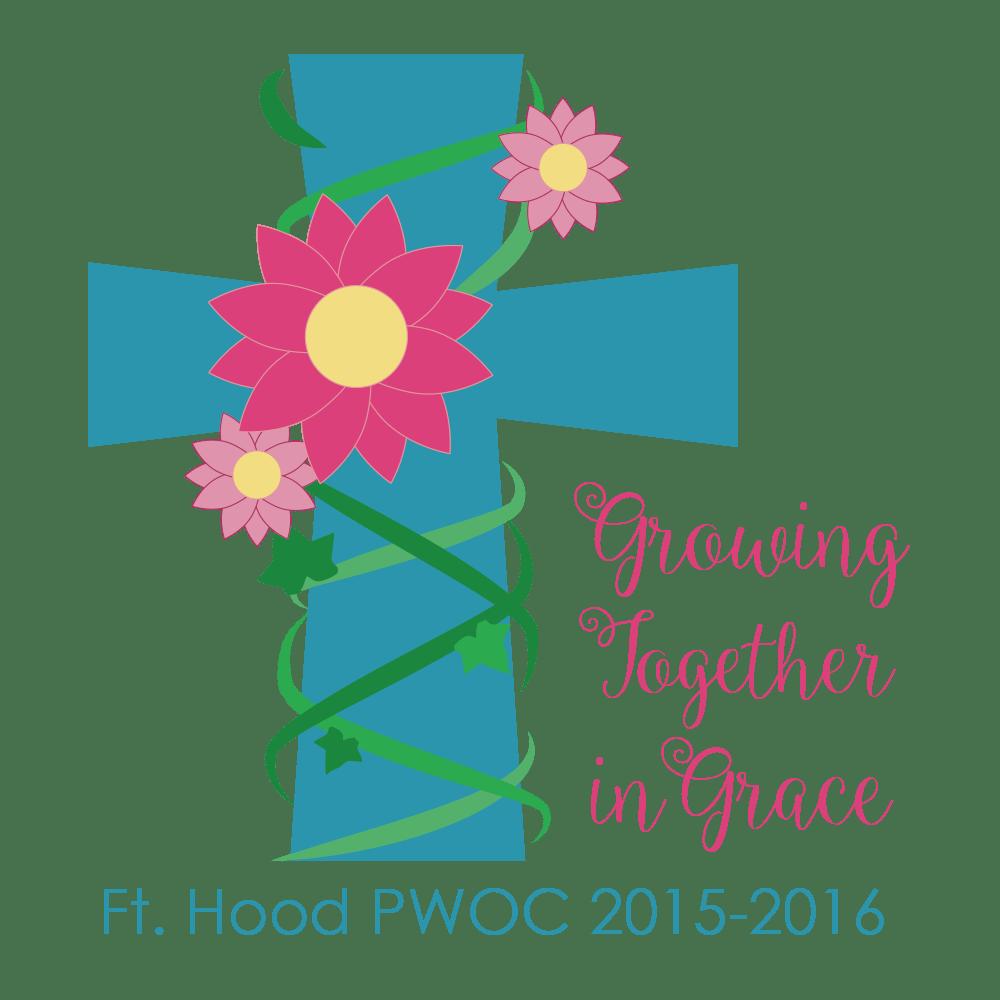 Grow in grace leaf cross logo clipart