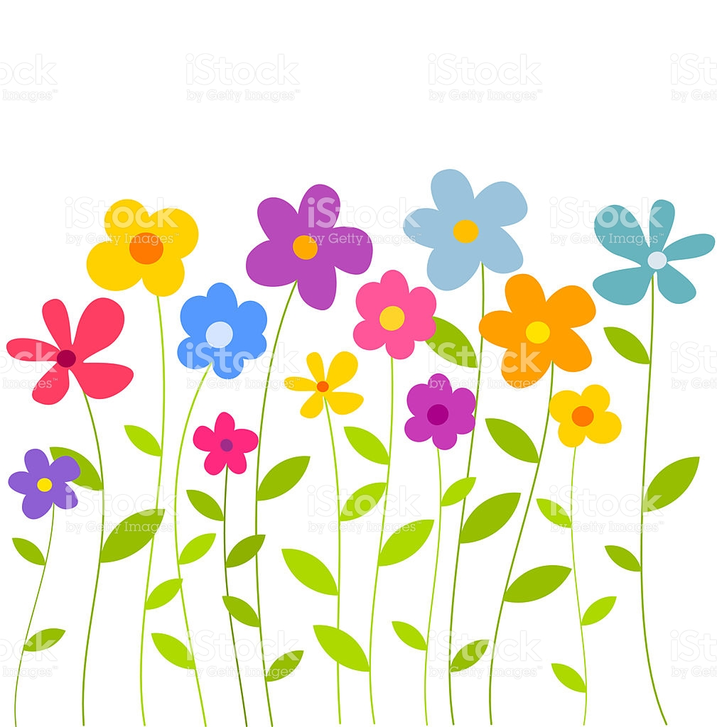 Growing flowers clipart png library Flower clip art row - 15 clip arts for free download on EEN 2019 png library