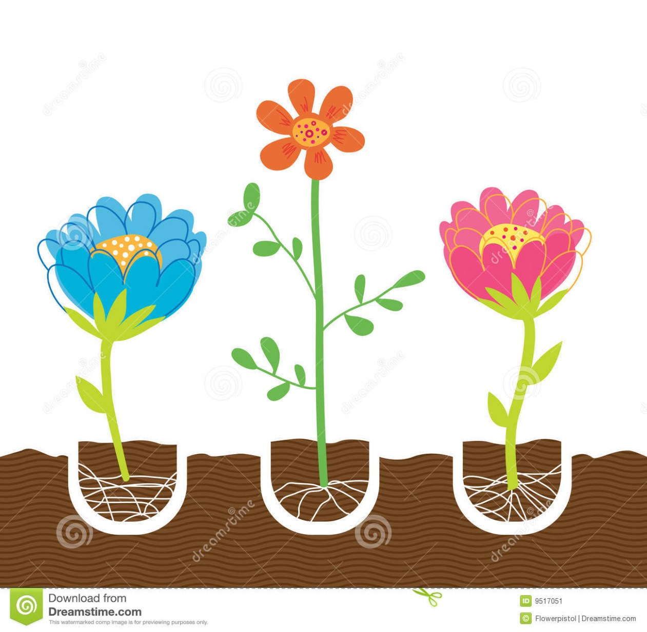 Growing flowers clipart png black and white download Planting Flowers Stock Image – Image: 9517051 – free clipart photos ... png black and white download
