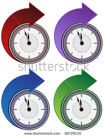 Growth arrow clipart clock image black and white library Set Of Clock Arrows Stock Photos, Royalty-Free Images & Vectors ... image black and white library