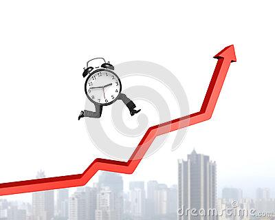 Growth arrow clipart clock