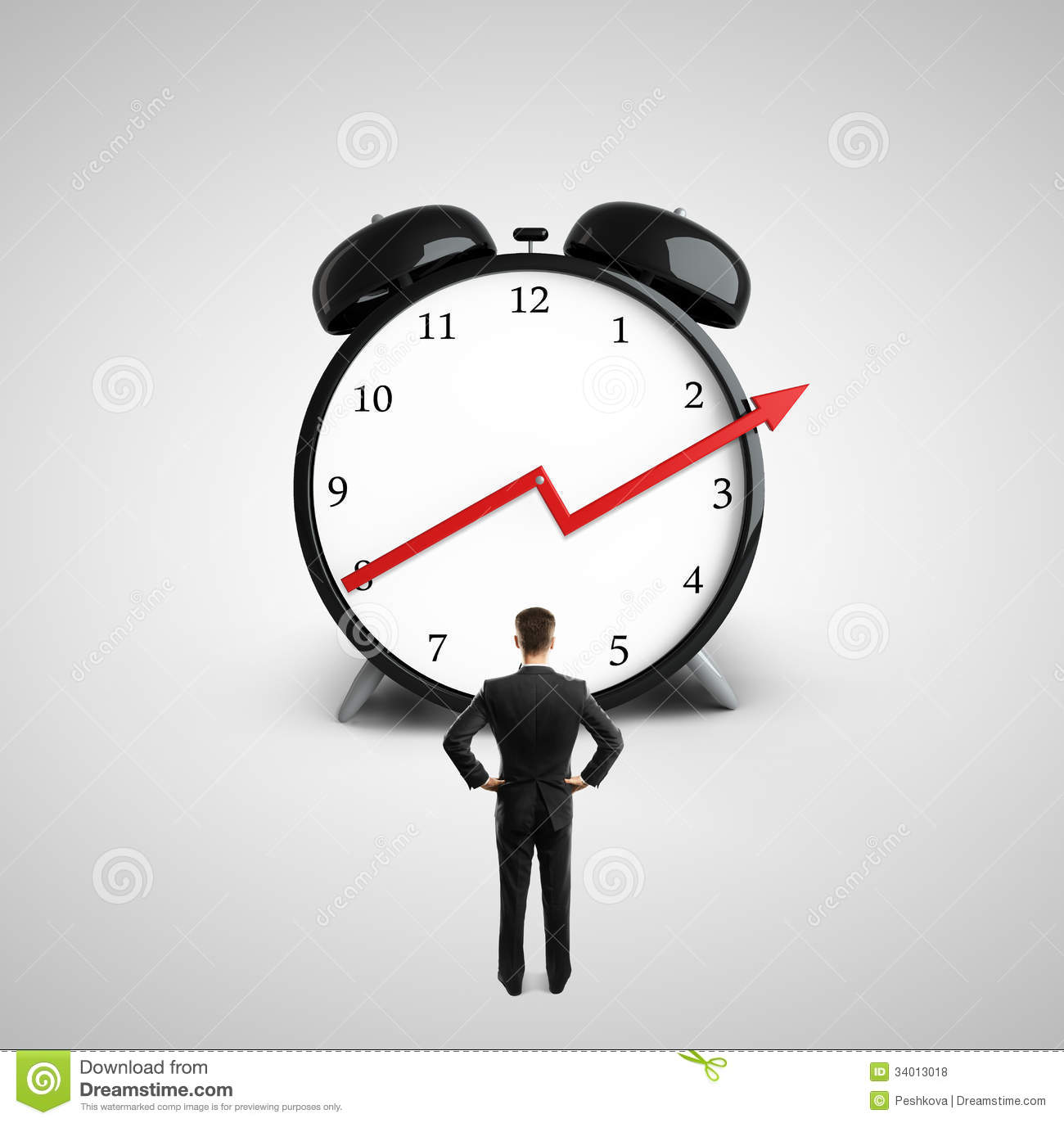 Growth arrow clipart clock clip free download Man Looking At Clock Royalty Free Stock Photos - Image: 34013018 clip free download