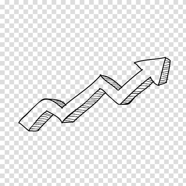 Growth clipart transparent background black and white picture library Euclidean Arrow Diagram, hand-drawn cartoon arrow growth transparent ... picture library