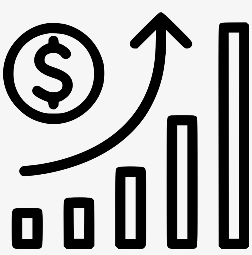 Growth clipart transparent background black and white picture transparent download Vector Black And White Growth Stock Inflation Svg Png - Business ... picture transparent download
