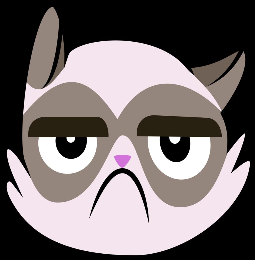 Grumpy cat face clipart clip art free Grumpy Cat Cutie Mark [Canon] by Lahirien on DeviantArt clip art free