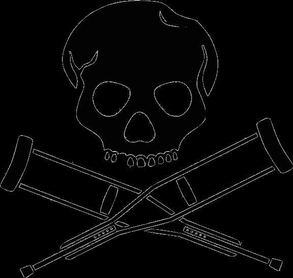 Grunge baseball bat clipart graphic transparent stock skeleton crutches skull design grunge... graphic transparent stock