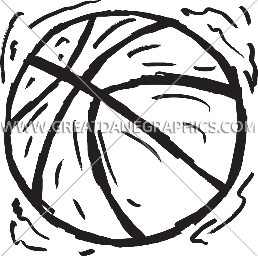 Grunge basketball clipart black and white clip stock Grunge Basketball | Production Ready Artwork for T-Shirt Printing clip stock