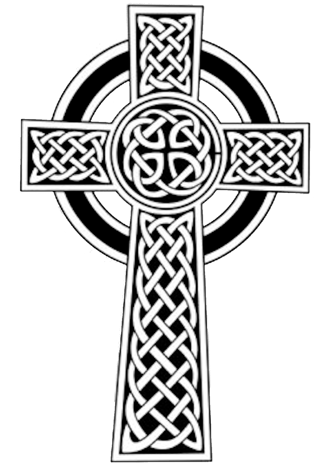 Grunge cross clipart clipart black and white stock Celtic Cross   Free Images at Clker.com - vector clip art online ... clipart black and white stock