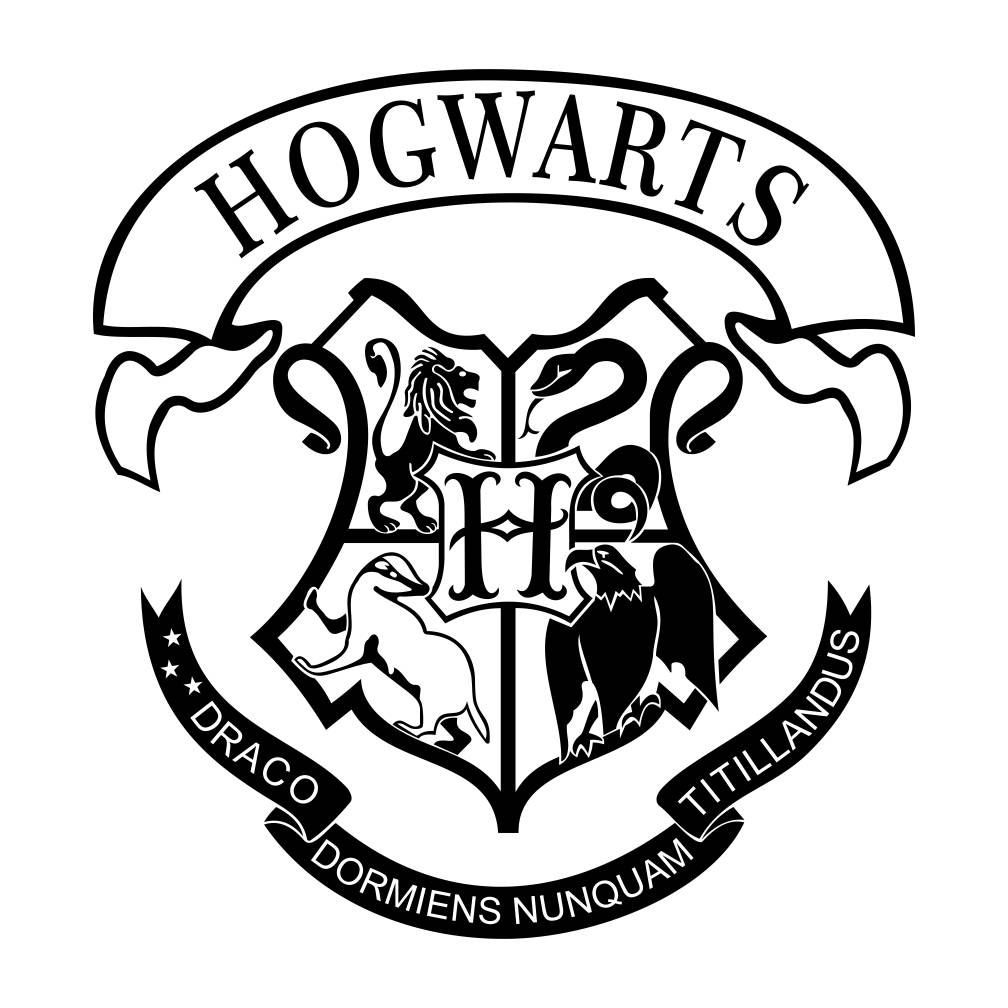 Gryffondor crest clipart graphic black and white download Pin by Lisa Morris on Silhouette designs | Hogwarts crest, Harry ... graphic black and white download
