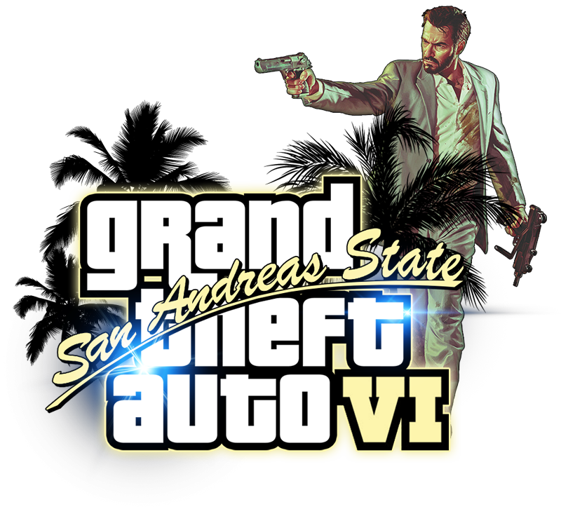 Gta 6 clipart image black and white Grand Theft Auto (GTA) PNG Transparent Images | PNG All image black and white