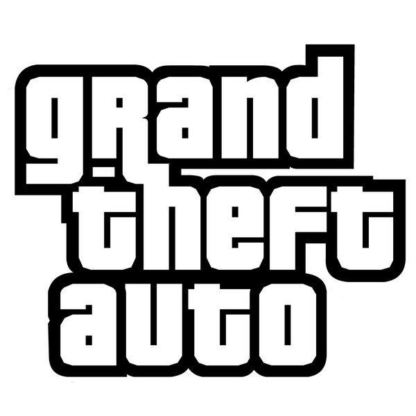 Gta 6 clipart transparent stock Grand Theft Auto Font and Logo transparent stock