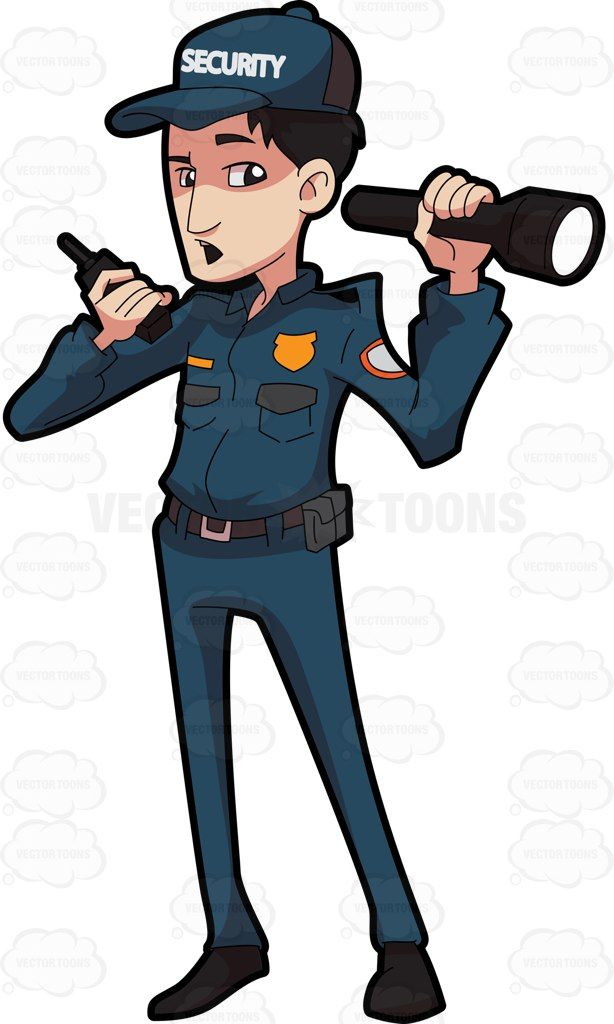 Security officer clipart