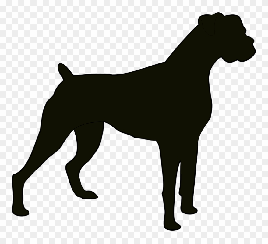 Guard dog clipart black and white banner black and white Boxer Dog Clipart - Boxer Dog Silhouette - Png Download (#47377 ... banner black and white
