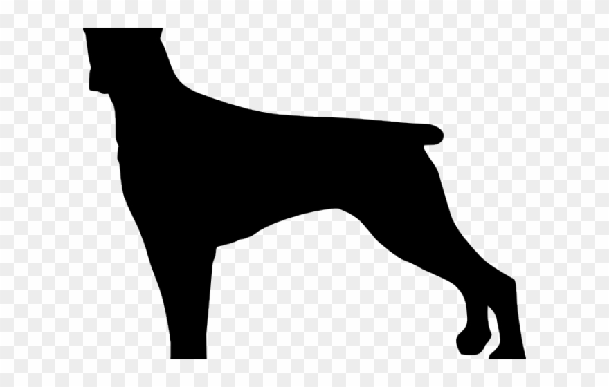 Guard dog clipart black and white picture free library Silhouettes Clipart Large Dog - Guard Dog - Png Download (#3466648 ... picture free library