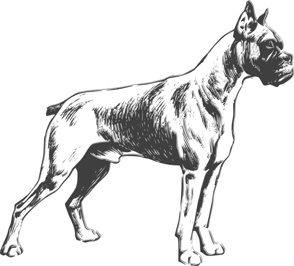 Guard dog clipart black and white svg black and white Guard Dog Drawing | Free download best Guard Dog Drawing on ... svg black and white