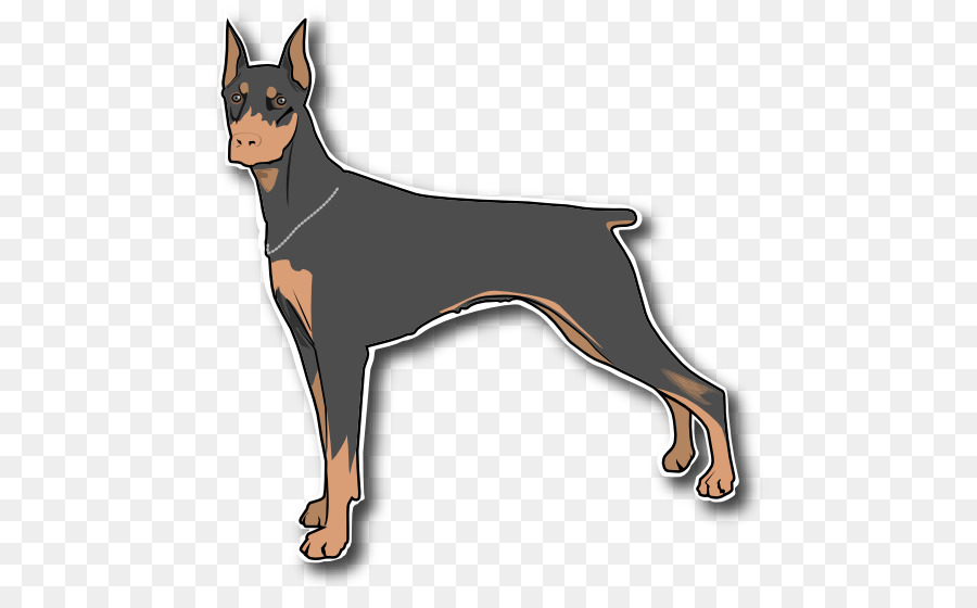 Guard dog transparent clipart png black and white library Wolf Cartoon png download - 519*546 - Free Transparent Dobermann png ... png black and white library