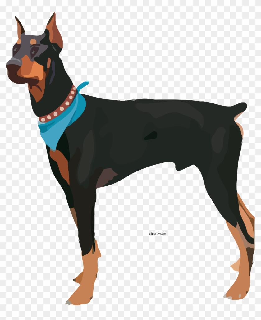 Guard dog transparent clipart vector freeuse Attack Dog Clipart Png - Doberman Clipart, Transparent Png ... vector freeuse