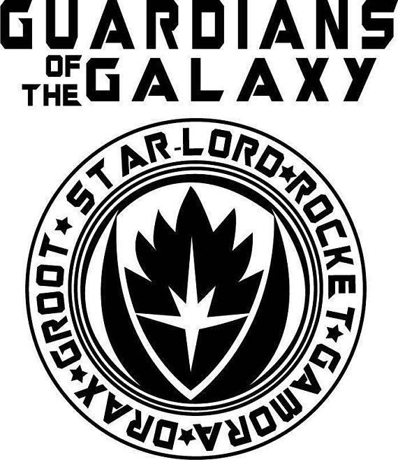 Guardians of the galaxy black and white clipart clip art black and white stock Guardians of the Galaxy Design for Silhouette Studio, Cut Files ... clip art black and white stock