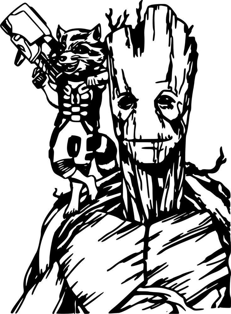 Guardians of the galaxy black and white clipart graphic Guardians Of The Galaxy Drawings | Free download best Guardians Of ... graphic